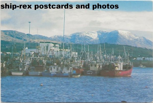 Beara, Ireland, fishing vessels, postcard